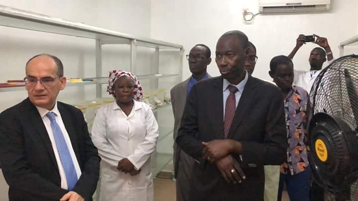 Visité du Ministre de l'Enseignement Supérieur et de la  Recherche Scientifique, Pr Mahamoudou FAMANTA